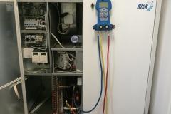 RTEK ilmanvaihtokoneen jäähdytyskoneikon korjausta